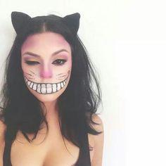 Imagen Gato rosa del artículo Fotos de Maquillaje de Halloween fácil para mujer 2017 | Paso a paso