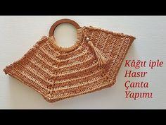 Straw Bag, Crochet Bags, Youtube, Crochet Purses, Embroidery, Crochet Tote, Crochet Clutch Bags, Youtubers, Youtube Movies