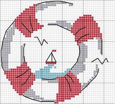 Life saver and sail boat simple cross stitch free chart - free pattern