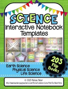 Science Interactive Notebook Templates - {203 Foldable Fli