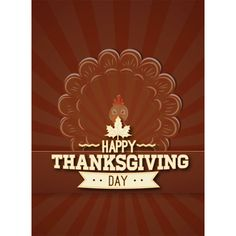 Free vector Happy Thanksgiving Day Retro Poster design with Turkey Bird logo 28 - November - Thanksgiving Day