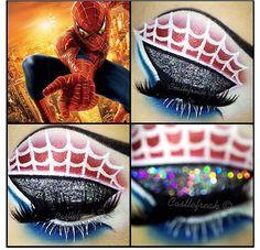 Spiderman makeup halloween