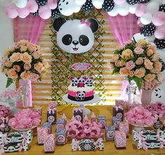 30 New Ideas For Baby Shower Ides Decoracion Osos Panda Themed Party, Panda Birthday Party, Panda Party, Unicorn Birthday Parties, Birthday Party Decorations, Party Themes, Rubber Ducky Baby Shower, Unicorn Baby Shower, Baby Shower Flowers