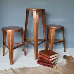 copper stools by miafleur   notonthehighstreet.com