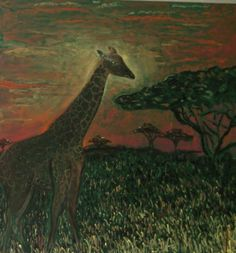 Waldorf ~ 4th grade ~ Human & Animal ~ Giraffe ~ chalkboard drawing