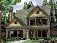 Traditional House Plan with 1875 Square Feet and 3 Bedrooms from Dream Home Source   House Plan Code DHSW62927