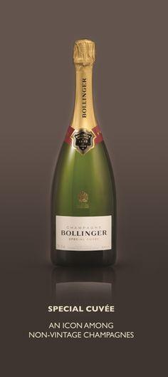 Bollinger Champagne ~ new bottle shape now in Dubai
