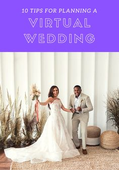 For weddings derailed by COVID-19, here's our guide to re-planning, re-scheduling, and re-imagining your wedding day into a virtual online celebration on Zoom, Facebook Live, Instagram Live & Google Hangout. #virtualwedding #livestreamwedding #zoomwedding #facebooklivewedding Eclectic Wedding, Chic Wedding, Wedding Day, Poses For Photos, Bridal Musings, Marry You, Celebrity Weddings, Beautiful Bride, Got Married