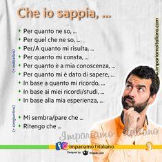 """""""Mi piace"""": 311, commenti: 2 - Learning Italian online (@impariamoitaliano) su Instagram: """"Che io sappia, ... Come esprimere la propria opinione: ________________ (+ indicativo)…"""" Ecards, Studio, Memes, Instagram, Paper Christmas Trees, Dative Case, E Cards, Meme, Studios"""