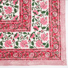 Floral Vine Tablecloth- Pink | Furbish Studio