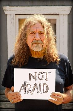 """Supporting to """"We Are Not Afraid,"""" a global campaign aimed at raising funds for the refugee crisis and victims of religious and political violence."""