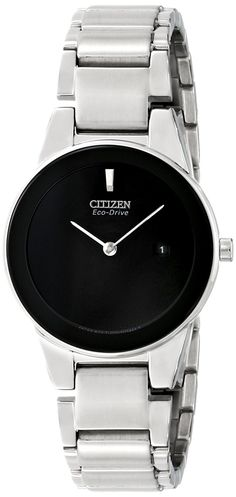 Citizen Eco-Drive Women's GA1050-51E Axiom Analog Display Silver Watch >>> Remarkable product available now.