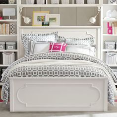 Find cute and cool girls bedroom ideas at Pottery Barn Teen. Shop your dream room with our teen room inspiration and ideas. Teen Bedroom, Bedroom Sets, Dream Bedroom, Bedrooms, Teen Rooms, Master Bedroom, Bedroom Drawers, White Bedroom, Kids Rooms