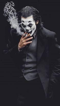 #fashion #instagram #wallpapers #black #white #pinterest Joker Photos, Joker Images, Joker Iphone Wallpaper, Joker Wallpapers, Lion Wallpaper, Foto Joker, Der Joker, Joker Drawings, Joker Poster