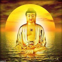 Buddha Painting, Krishna Painting, Lotus, Peaceful Words, Amitabha Buddha, Buddha Tattoos, Buddha Zen, S Pic, Mona Lisa