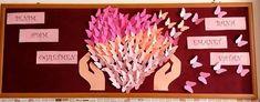 """Tüm sınıflara yönelik, birbirinden güzel """"Öğretmenler Günü"""" panoları Triangle, Montessori, Celebrations, Activities For Toddlers, Craft, Pictures, Cactus, Projects"""