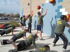 Basic Training Boot Camp Fitness Session