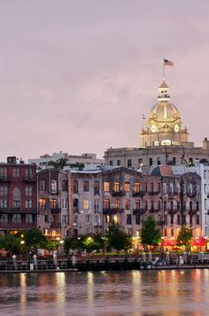 Savannah's riverfront