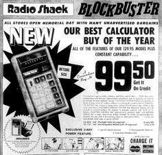 Radio Shack Calculator (1973).