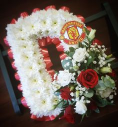 Tiger Lilies, Manchester United Fans, Red And White Flowers, Funeral Tributes, Funeral Flowers, Flower Arrangements, Floral Wreath, Lily, The Unit