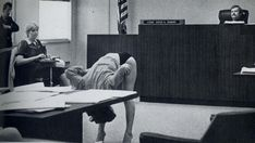 Exotic dancer in Clearwater FLA shows the judge that her bikini briefs were too large to expose her lady parts to the cops that arrested her. Her case was dimissed... 1983 : OldSchoolCool