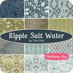 Ripple Salt Water Fat Quarter Bundle Tula Pink for Free Spirit Fabrics - I CANNOT wait for this to become available! So many ideas...