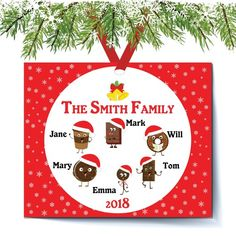 Personalized Family Of  Christmas Ornaments Big Family Ornament Family Christmas Ornament Up To