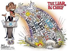 State of Union- Obama Liar-In-Chief toon I wonder if President Barack Hussein Obama will mention anything about Benghazigate in tomorrow's State of the Union Address. If he does say something will he maintain Benghazigate is a phony scandal? Obama Lies, Barack Obama, Ben Garrison, Pokerface, State Of The Union, Political Cartoons, Political Posters, Political Art, Control