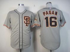Giants #16 Angel Pagan Grey Cool Base Embroidered MLB Jersey! Only $18.50USD