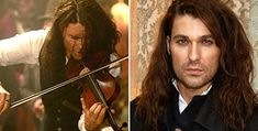 David Garrett beautiful♥ Dunkle Haare und Bart: Stargeiger Garrett als Paganini. (Quelle: dpa)