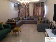 Canapé – canapé U – canapé moderne – salon chic – deco – Crea design Future House, My House, Crea Design, Corner Sofa, My Room, Living Room Decor, Architecture Design, Sweet Home, Indoor