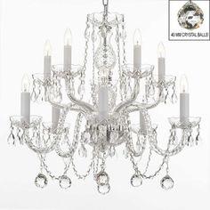 Harrison Lane 10 Light Crystal Chandelier with Balls T40-528,    #Harrison_Lane_T40-528