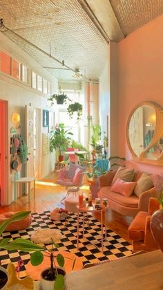 Funky Living Rooms, Funky Bedroom, Small Space Living Room, Room Ideas Bedroom, Small Spaces, Living Room Decor, Small Living, Cool Living Room Ideas, Living Room Paint Colors