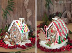 Receta de casitas de galletas de jengibre perfecta para decorar con niños en Navidad