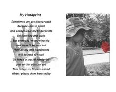 Handprint Poem Gift Photo by Sheri J.  love this with their photo in a frame along with their handprint..