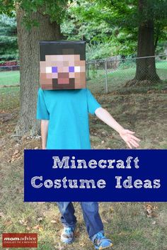Easy DIY Minecraft Costume Ideas from MomAdvice.com. Free printables and tutorial for crafting the perfect Minecraft Costume.