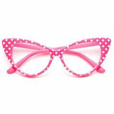 Non-prescription clear lens fashion glasses. Fake Glasses, Cat Eye Glasses, Glasses Frames, Round Lens Sunglasses, Cute Sunglasses, Sunglasses Women, Vintage Sunglasses, Look 80s, Rimless Glasses