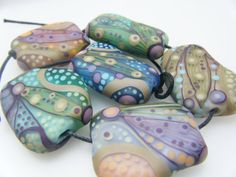 Moogin large set hand shaped pastel abstract by mooginmindy
