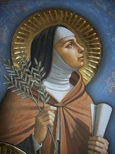 Saint Clair of Assisi Catholic Saints, Catholic Art, Patron Saints, Religious Paintings, Religious Art, Ste Claire, Saint Claire, Oracion A Santa Rita, St Francisco