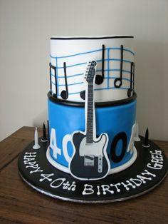 Leckere Torten blau gitarre