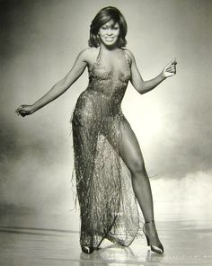 Tina Turner in a stage outfit by Bob Mackie.