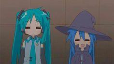 Kagami and Konata Cosplaying X3