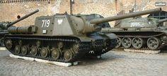 The ISU-122 (Istrebitelnaja Samokhodnaya Ustanovka 122) was a Soviet self-propelled gun used during World War II.