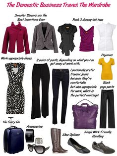 46ab80fdb0 Travel Domestic-Business packing for a business trip - several outfits in  business casual style Business