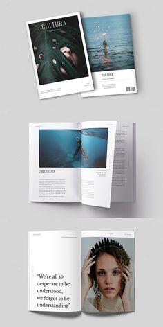 Cultura Magazine Template #brochure #template #indesign #magazine #lookbook #portfolio #catalog #lifestyle #fashion