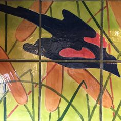 I neglected to share many #pics from the visit to @oldkingfarm in #VT. No cell reception! This is the #backsplash in the #kitchen of the #farmhouse ... #handmade by the former owner. To my delight there were red wing #blackbirds #chirping in the #trees outside when I arrived. An evening #ritual that I grew accustomed to ... Excited to be back for #springfling on #memorialdayweekend. You can be there with us! Check the OKF website for details.  #redwingblackbird #bird #tiles #tiled…