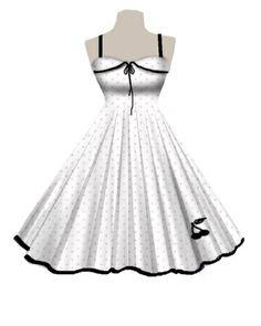Rockabilly polka dot cherry dress