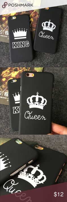 IPHONE 7 & 7 PLUS CASE VALENTINES DAY GIFT IPHONE CASE FOE COUPLES QUEEN & KING. IPHONE 7 AND 7 PLUS LIMITED QUANTITY. ❤️ PLEASE SELET THE RIGHT SIZE, I'M NOT RESPONSIBLE IF YOU CHOOSE THE WRONG SIZE FOR YOUR PHONE. ❤️ THE PRICE IS FOR ONE CASE ☀️ HARD SHELL SNAP ON CASE Accessories Phone Cases