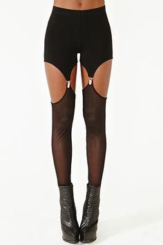Mesh Garter Leggings