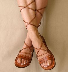 Roman Sandals by Calpas on Etsy, $70.00...I want want want!
